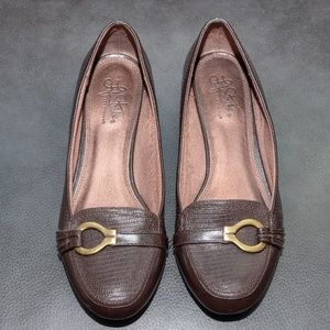 LIFE STRIDE SOFT STYLE FLAT BROWN LOAFER SHOES